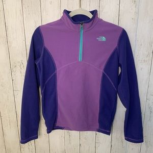 Girls The North Face Quarter Zip Pullover Lg 14/16